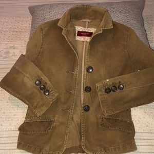 Hollister light weight tan corduroy jacket